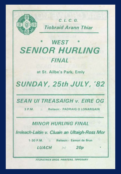 1982 West Tipperary Senior Hurling Final C