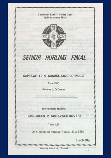 1983 West Tipperary Senior Hurling Final C