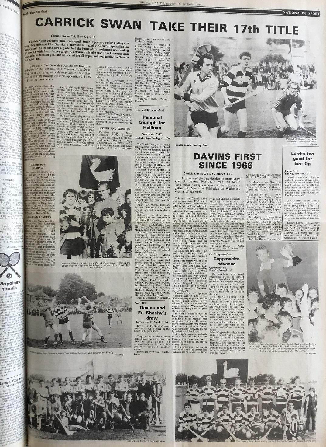 1984 South hurling final