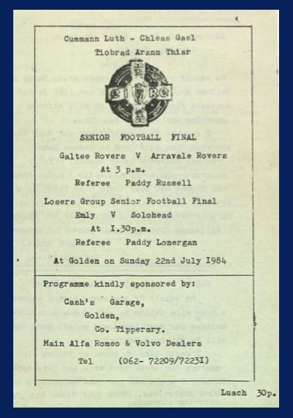 1984 West Tipperary Senior Football Final C