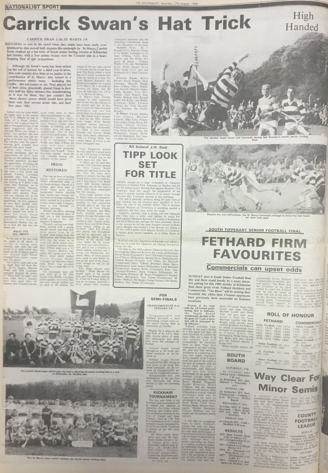 1985 South hurling final