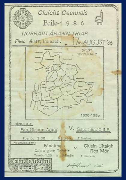 1986 West Tipperary Senior Football Final C