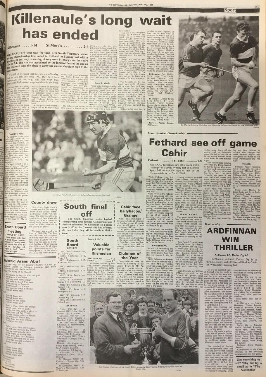 1988 South hurling final