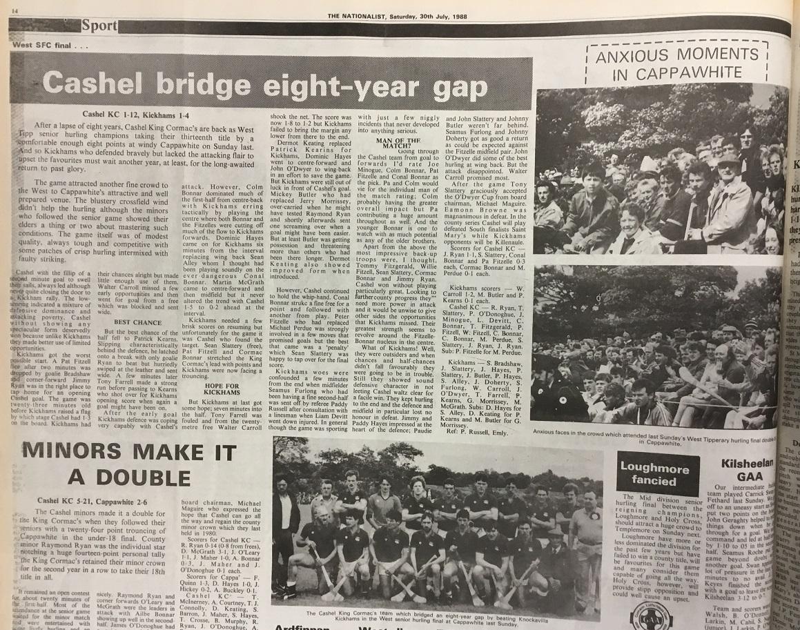 1988 West hurling final