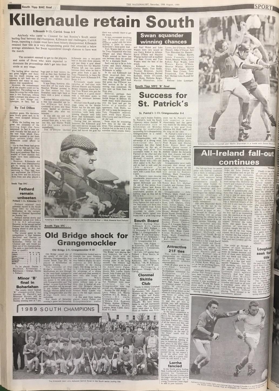1989 South hurling final