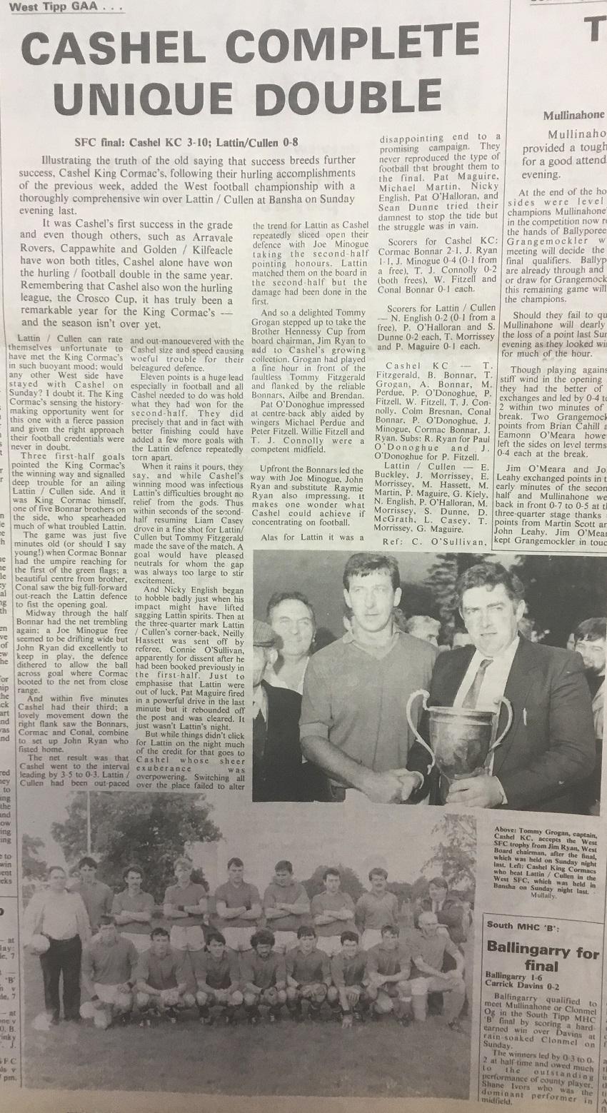 1990 West football final