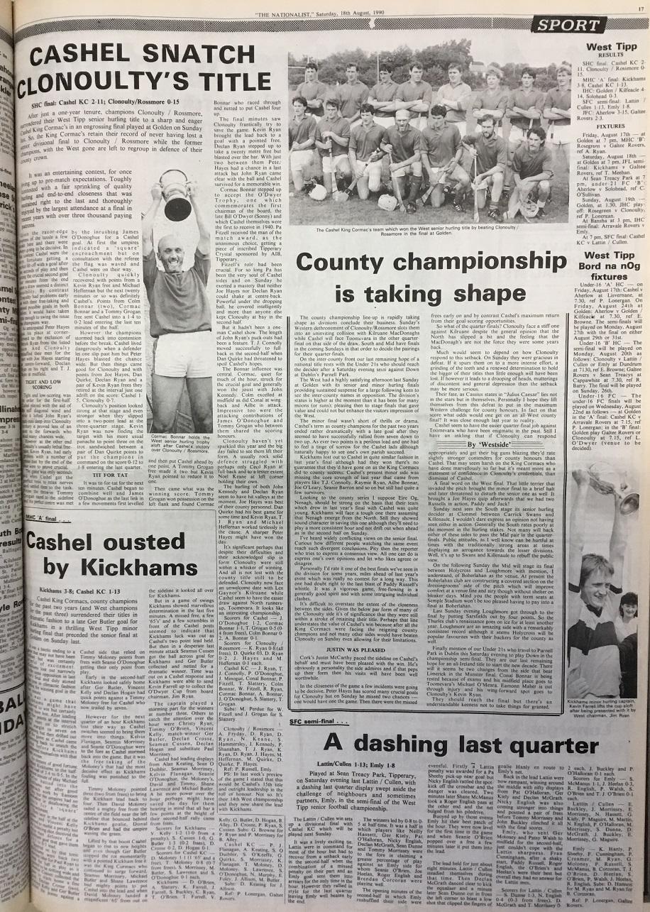 1990 West hurling final