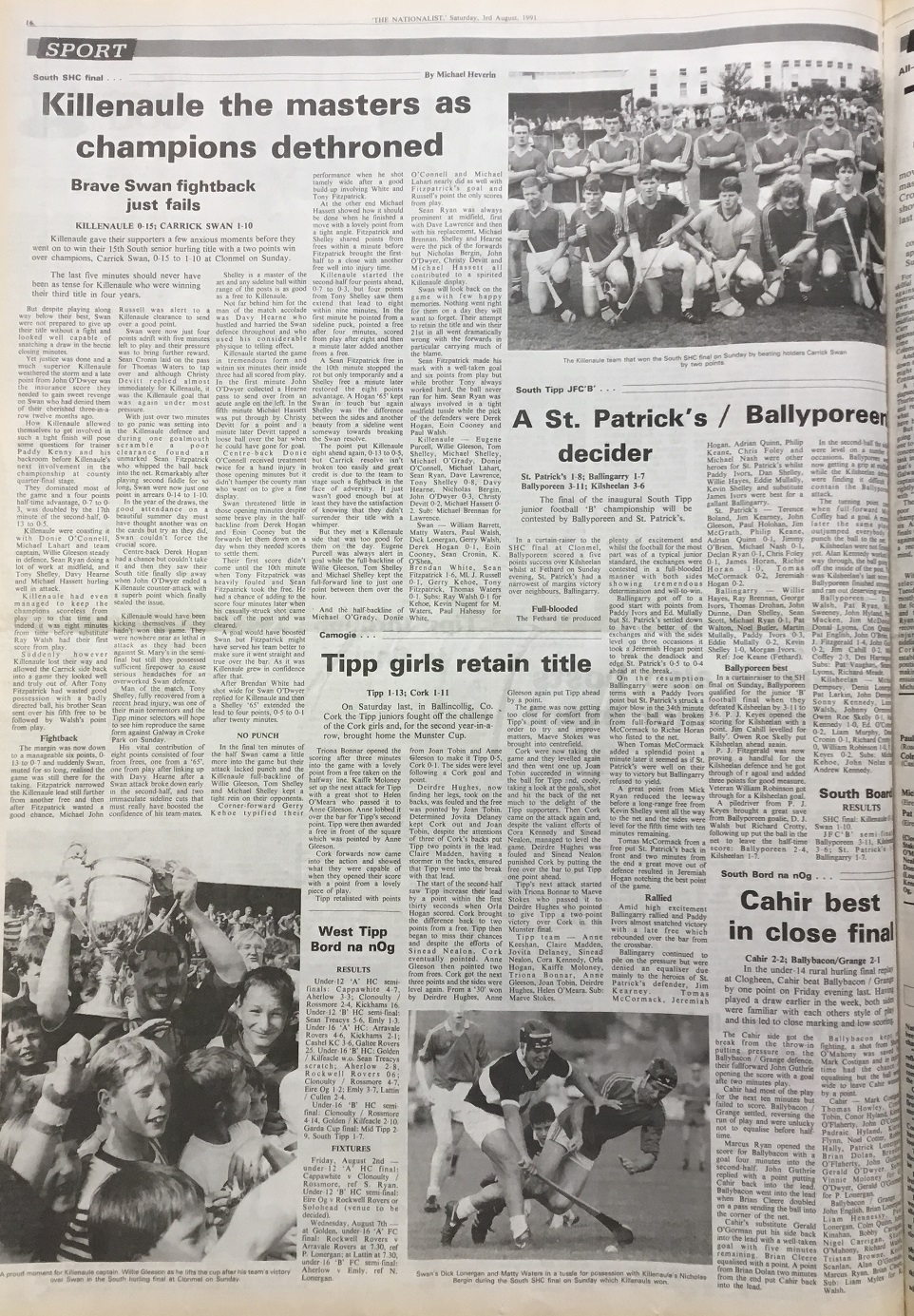 1991 South hurling final