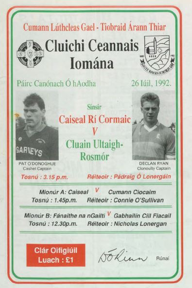 1992 West Tipperary Senior Hurling Final