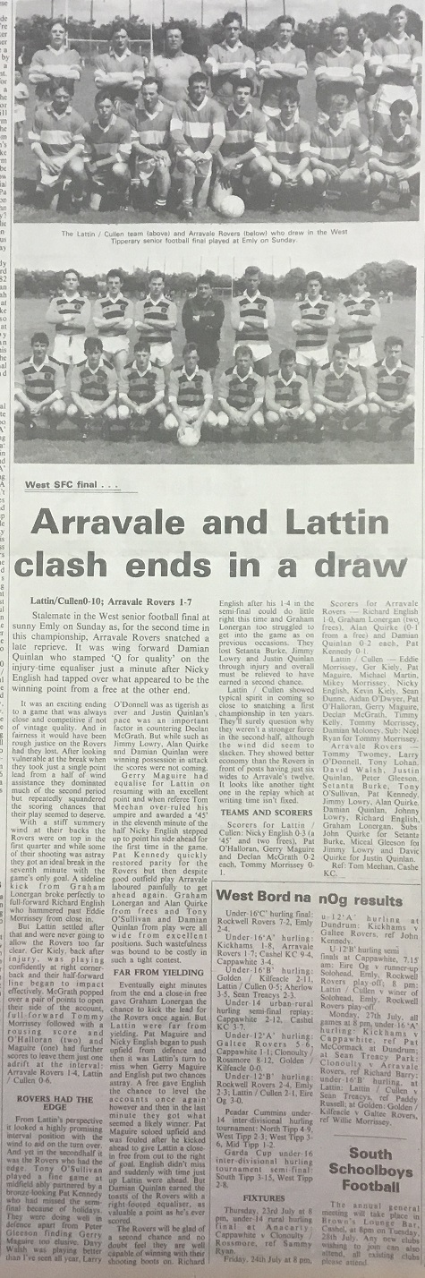 1992 West football final