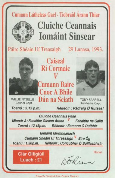 1993 West Tipperary Senior Hurling Final