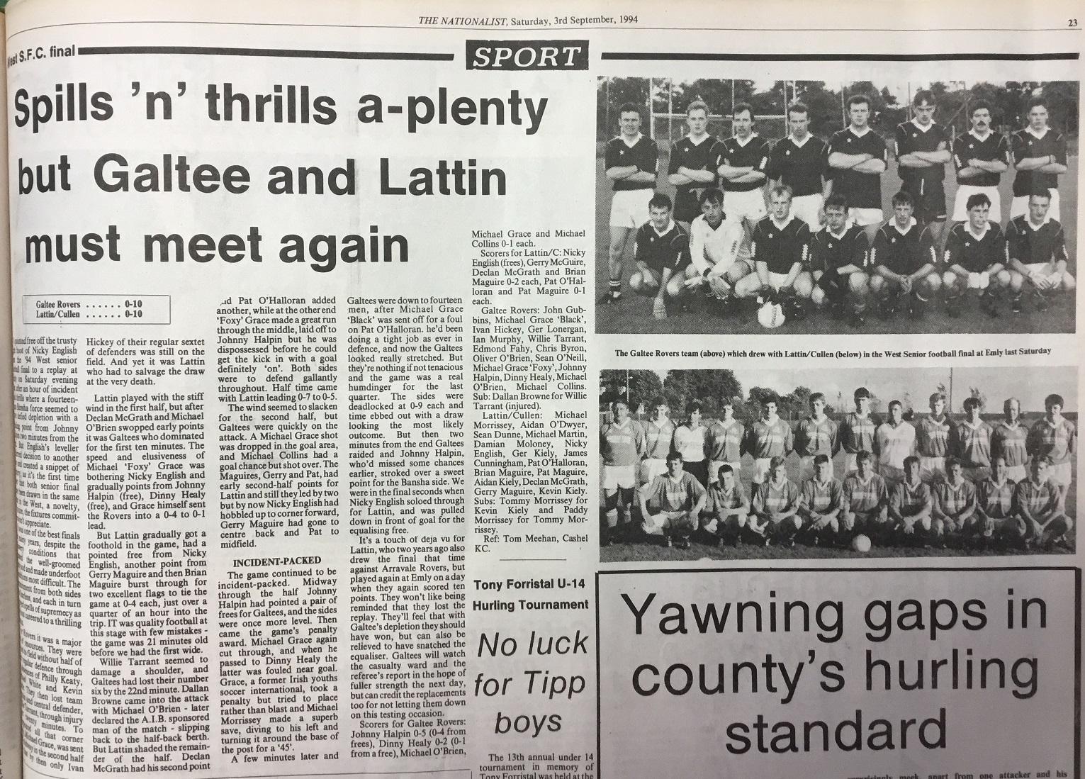 1994 West football final