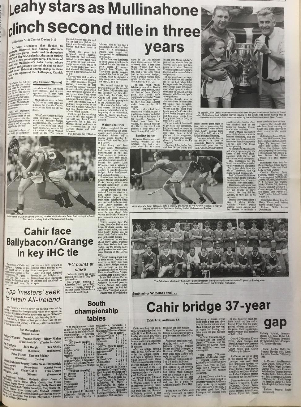 1995 South hurling final