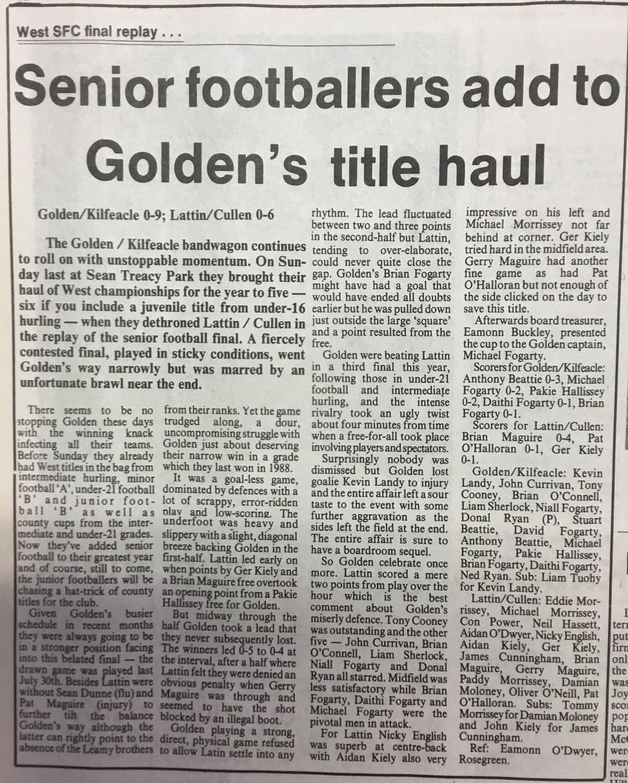1995 West football final replay