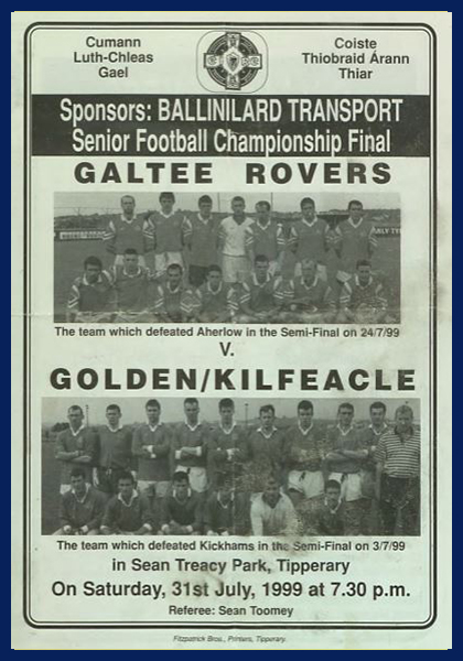 1999 West Tipperary Senior Football Final C