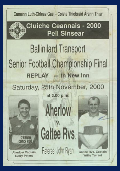 2000 West Tipperary Senior Football Final Replay C