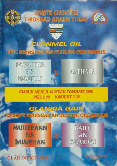 2001 South Tipperary Senior Hurling Final