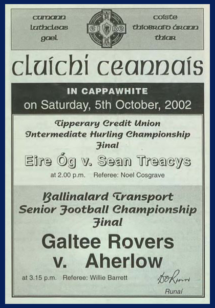 2002 West Tipperary Senior Football Final C