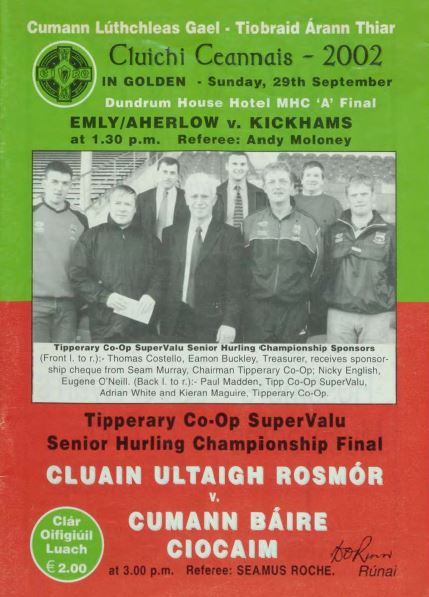 2002 West Tipperary Senior Hurling Final