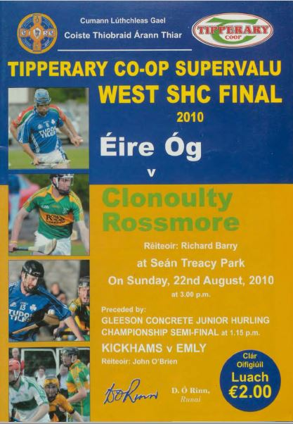 2010 West Tipperary Senior Hurling Final