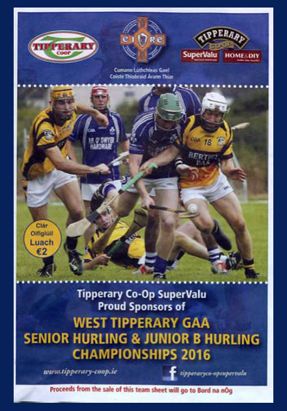2016 West Tipperary Senior Hurling Final C