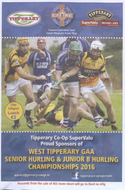 2016 West Tipperary Senior Hurling Final