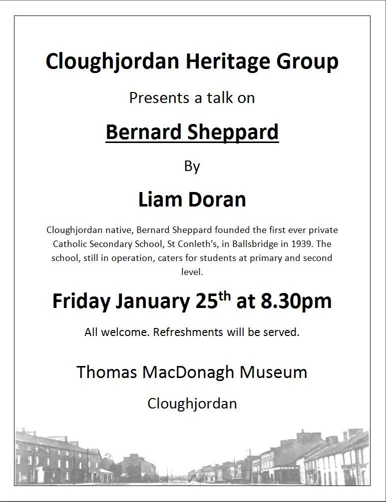 Cloughjordan Heritage Lecture