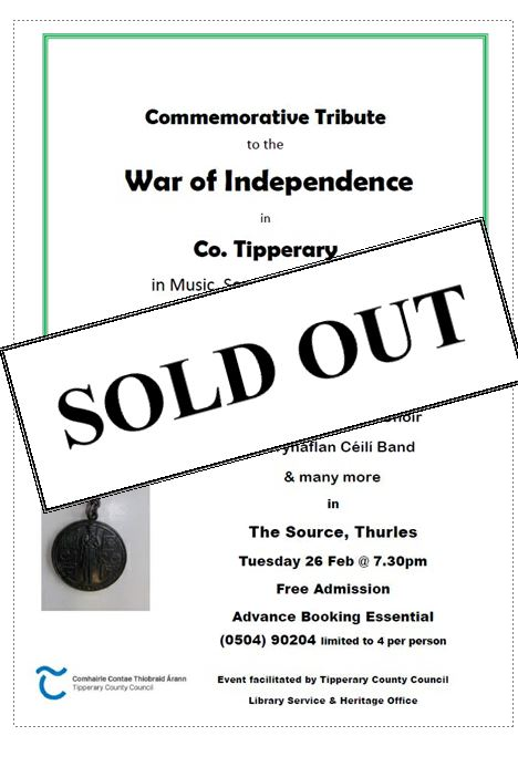 War Of Independance Tribute Sold Out.
