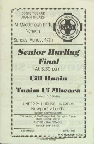 1986 North Tipperary Senior Hurling FinalC