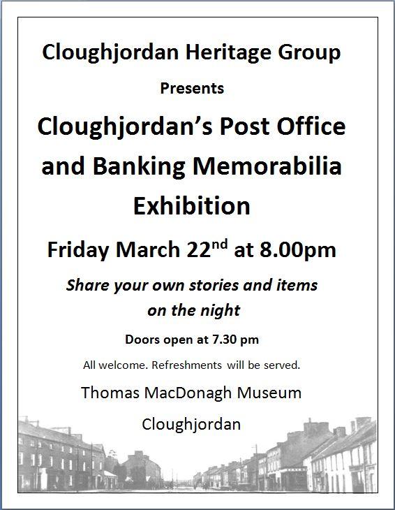 Cloughjordan's Post Office And Banking Memorabilia Exhibition