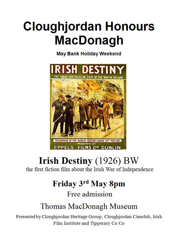 Cloughjordan Showing 1926 Film 'Irish Destiny'