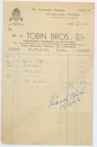 3.Tobin Bros, Chemists, 63 Liberty Square, 1956