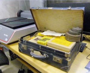 Kemiss suitcase in scanning room