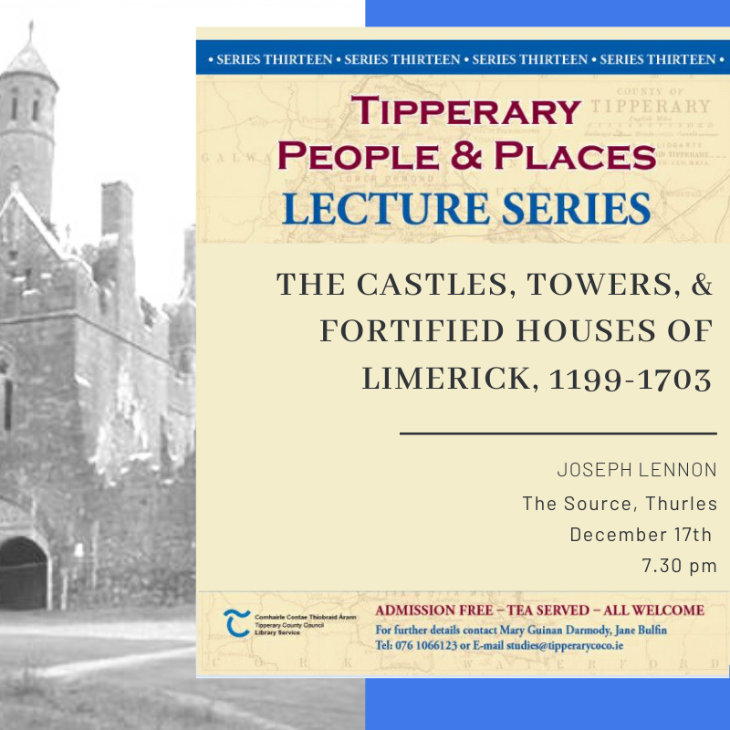 December Lecture Tuesday 17th @ 7.30pm