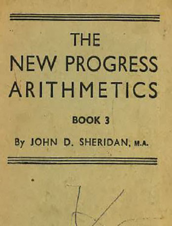 Arithmetic and old money 1950s textbook