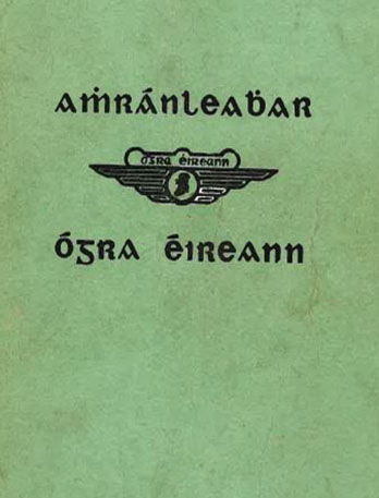 Song book in Irish both old and new script
