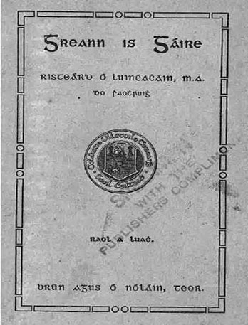 irish test book in old script early 20th century