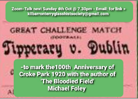 Kilbarron Terryglass Historical Society Zoom Talk With Michael Foley