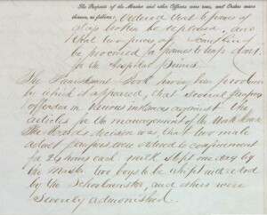 Clonmel PLU puishment details 16 May 1846